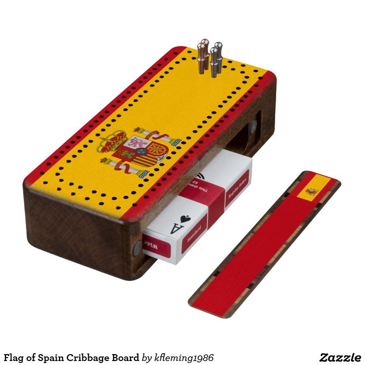 Flag of Spain Cribbage Board