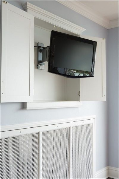 16 best wall mounted tv cabinets images on pinterest - Soporte pared tv ...