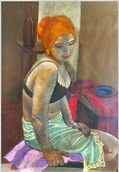 Koronka  Autor: Malina Kokoszczyńska  - pastele suche   www.kokkoart.pl http://kokoszczynska.pl/ #kokoszczynska #painting #art