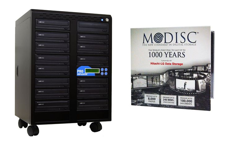 Produplicator 1 to 14 24X M-Disc Support CD DVD Duplicator Bundle with 1 Pack M-DISC, Nero Essentials Burning Software (Standalone Duplication Tower)