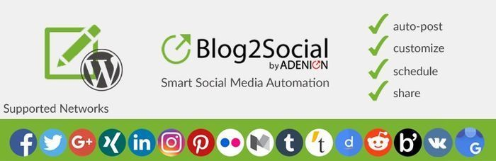 Every social network has its best times for activity and engagement.Share your blog posts, when your community is online.Blog2Social provides you with a ready to use social media scheduler for the best times to post on each social network.