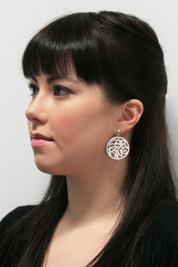 RingRing big earrings. by Chao & Eero.  #chaoandeero #finnishdesign #graphicdesign #earrings