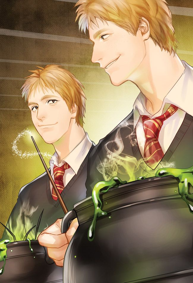 Fred and George Weasley -- https://www.facebook.com/kanapywork?fref=ts