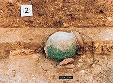 Almost intact earthenware found at Rakhigarhi