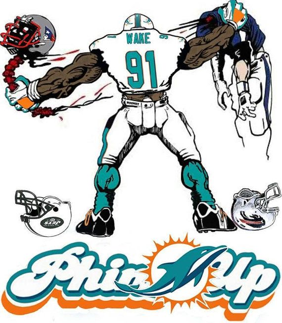 Miami Dolphins 1 by Wonderstache on Etsy