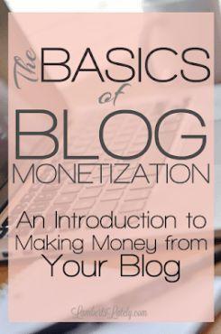 Die Grundlagen der Blog-Monetarisierung: Eine Einführung – Blogging Tips and Strategies
