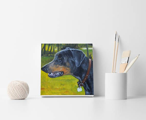 Pet portrait Custom portrait Dog order Custom dog painting