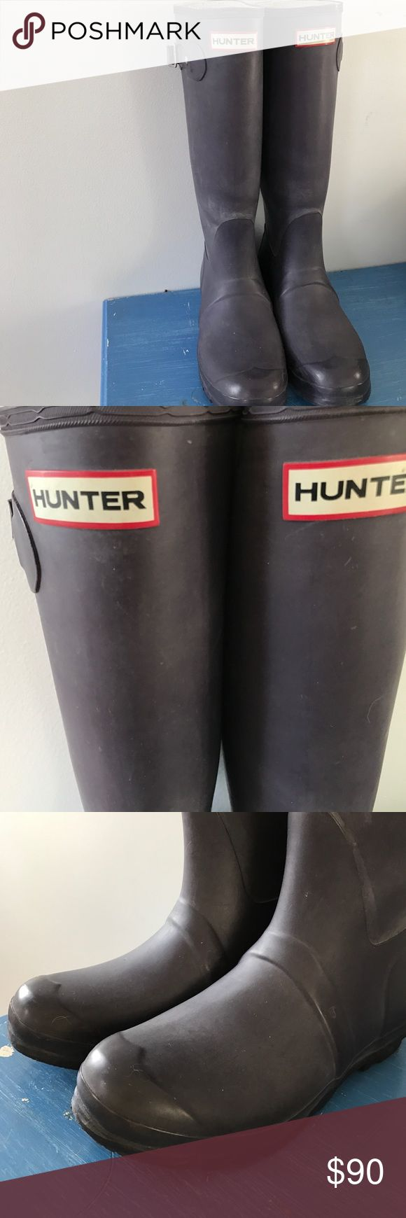 ORIGINAL TALL HUNTER RAIN BOOTS Gently worn tall rain boots, love them but they are a tad too small for me... size 7 Hunter Boots Shoes Winter & Rain Boots