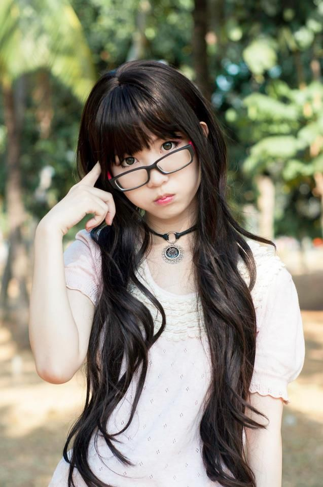 Nerdy Eyeglasses Glasses Fashion Eye Wear Asian Hair