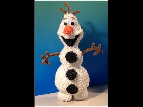 New Olaf Loomigurumi Amigurumi Frozen Snowman Part 1 - Rainbow Loom Band Crochet Hook Only - YouTube