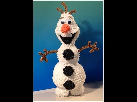 New Olaf Loomigurumi Amigurumi Frozen Snowman Part 1 - Rainbow Loom Band Crochet Hook Only - YouTube