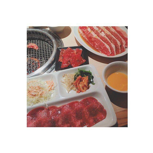 タン塩ランチ🥓❤️ #肉 #焼肉 #ランチ #lunch #タン塩 #みすじ #ハラミ #幸せ