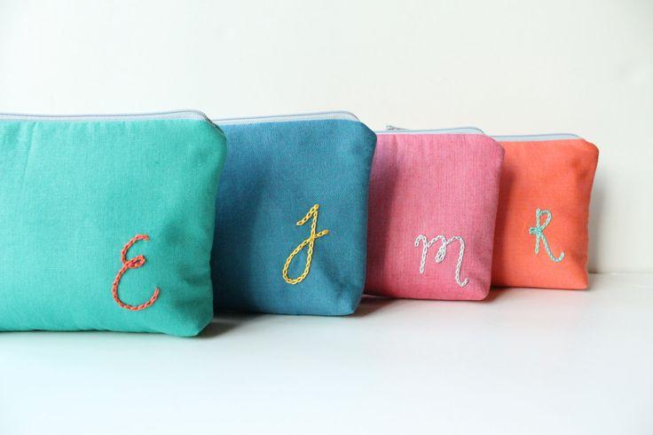 Custom Cosmetic Bags -- Perfect for bridesmaids!
