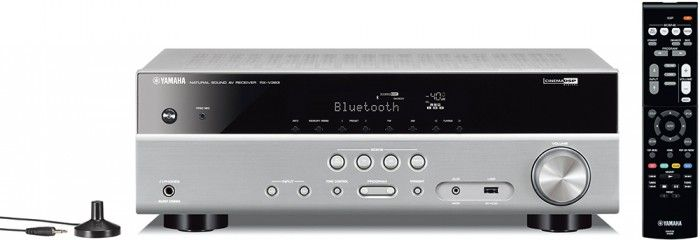 The Yamaha RXV383 AV Receiver features Bluetooth connectivity, Virtual Cinema Front technology, YPAO Sound Optimisation for Automatic Speaker Setup, 4K/60p, HDCP2.2, HDR Video support for degradation-free 4K Ultra-HD video playback and employs subwoofer trim control to enhance low frequencies by avoiding overlap with the front speaker output, thus delivering excellent quality sound. Titanium.