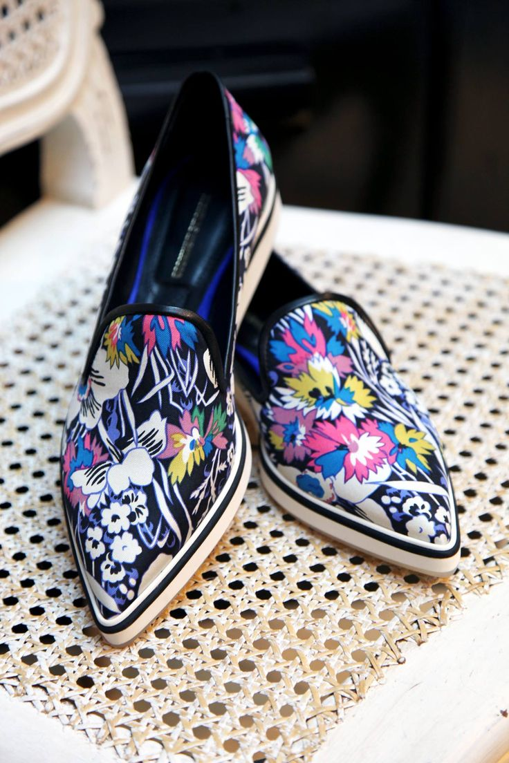 Indulge in luxurious comfort all summer long in Nicholas Kirkwood's printed silk loafers. Made in Italy, these shoes have a unique micro sole that will make you feel like you're walking around barefoot!