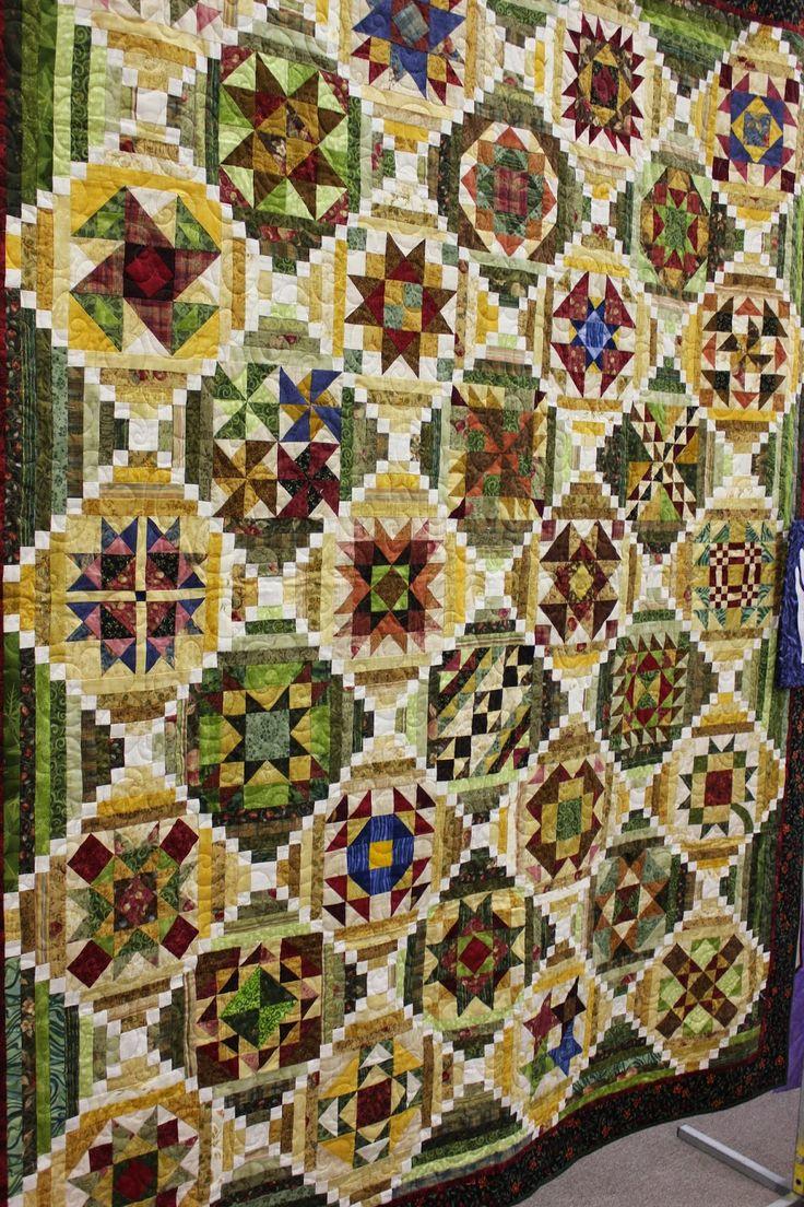 Silly Goose Quilts, sampler quilt, alternating courthouse steps blocks