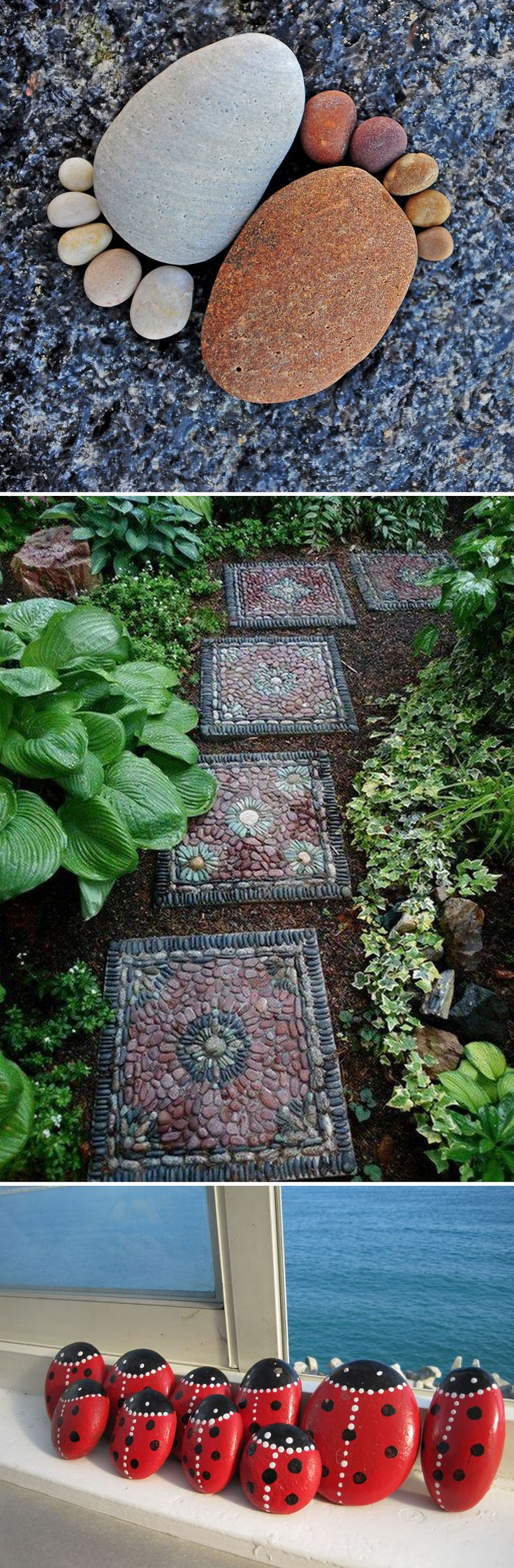 Creative, Easy and Artsy Ways to Use Rocks in the Garden!