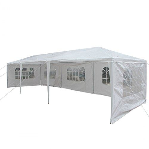 RHH 3 x 9m Outdoor Canopy Party Wedding Tent Heavy Duty Gazebo Pavilion White > An assembled tent, consist of necessary accessories High-class polyethylene and steel material, smart workmanship and reasonable design With outstanding waterproof performance, can be used outdoors