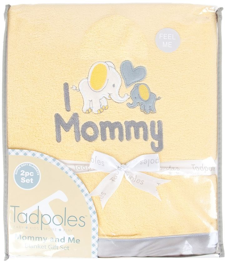 Tadpoles Mommy & Me Super Soft-Soft Coordinating Plush Blankets
