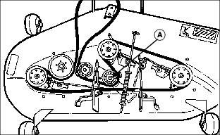 john deere lt166 belt diagram replacing mower drive belt. Black Bedroom Furniture Sets. Home Design Ideas