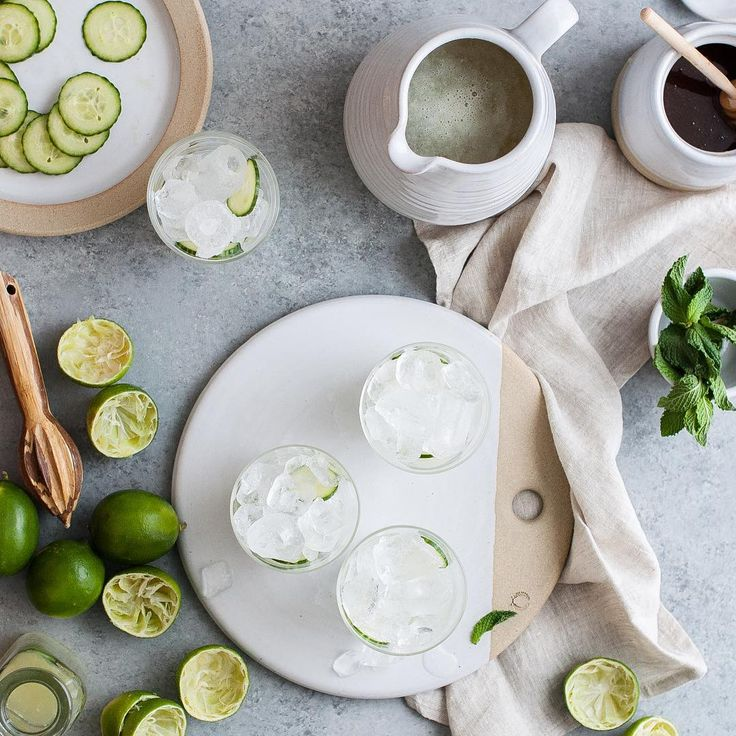Farmhouse Pottery (@farmhousepottery) •  Mint  Cucumber Limeade   PC: Kayley McCabe / @thekitchenmccabe