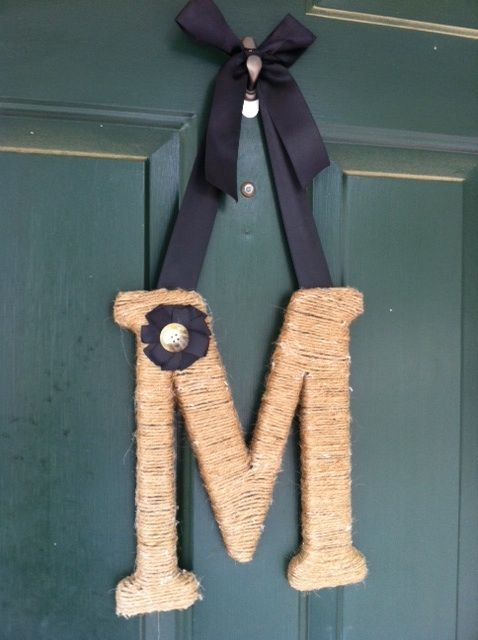 M: Diy Crafts, My Cousins, Monograms Twine, Twine Wrapped Letters, Twinewrap Letters, Baskets, Mcwonder Life, Crafts Diy, Twine Wraps Letters