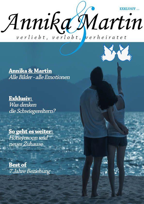 So wie für Annika & Martin könnt ihr auch einen schöne Hochzeitszeitung zum besonderen Tag des Brautpaares gestalten. Noch mehr kostenlose Cover Vorlagen findet ihr auf unserer Seite www.jilster.de #hochzeit #wedding #marriage #DIY