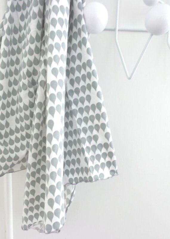 Newborn Organic cotton swaddle blanket Raindrop by AlphabetMonkey