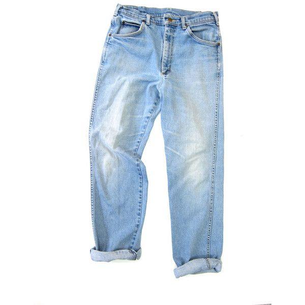 90s High Waist Blue Jeans Worn In Denim Straight... men's fashion, vintage jeans