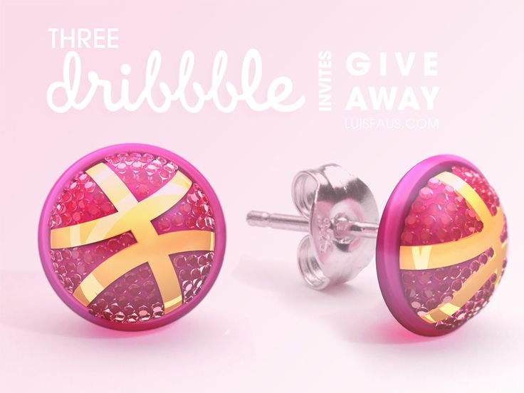 Three Dribbble Invites Give Away by Luis Faus