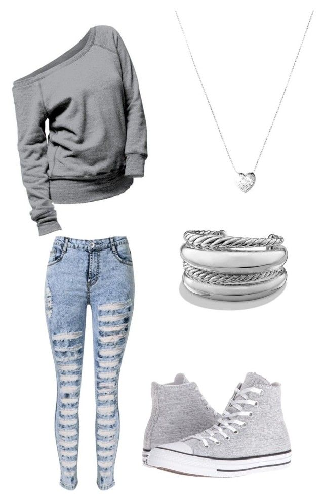 """Untitled #43"" by lestybunny on Polyvore featuring Converse, David Yurman and Links of London"