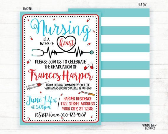 photo regarding Nurse Graduation Invitations Printable named Nursing is a effort of Middle Invitations, Nurse Commencement