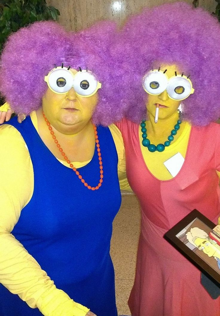 15 Plus Size Halloween Costumes that WOWED Us-Cheri L. and friend as Selma and Patty from the Simpsons