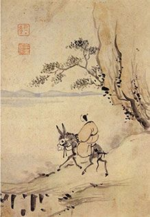 (Korea) by Gang Se-hwang (1713- 1791). color on paper. ca 18th century CE. Korean painting.