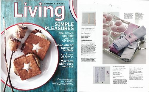 DIY napkin rings adorn our Festival napkins in the July issue of Martha Stewart Living.
