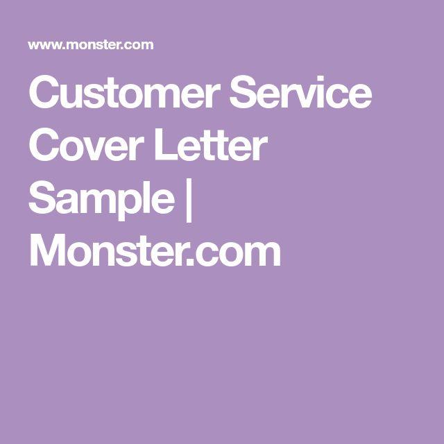 Customer Service Cover Letter Sample | Monster.com