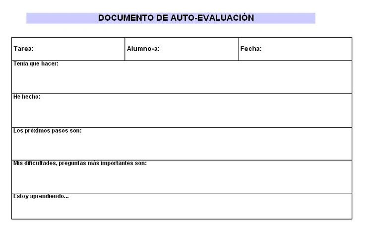 PLANTILLAS DE CONTROL. EVALUACIÓN