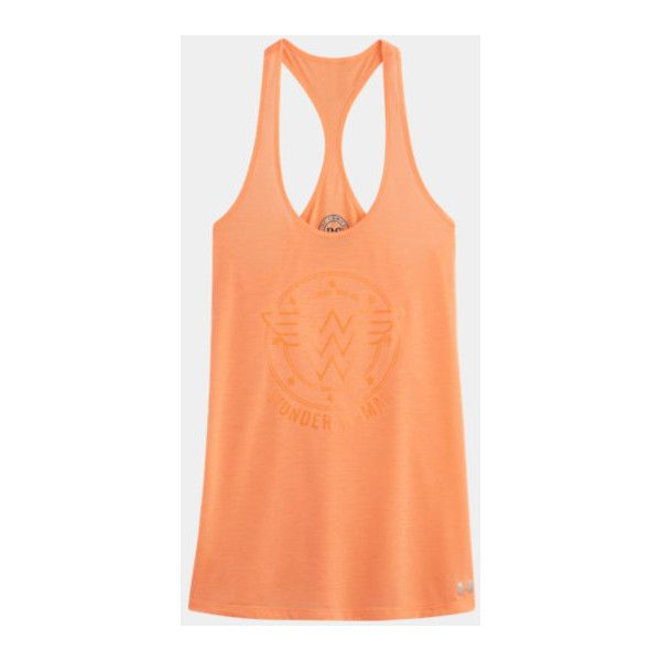 Women's Under Armour Alter Ego Wonder Woman Tank ($26) ❤ liked on Polyvore featuring tops, under armour singlet, under armour, under armour tank tops, red top and red tank