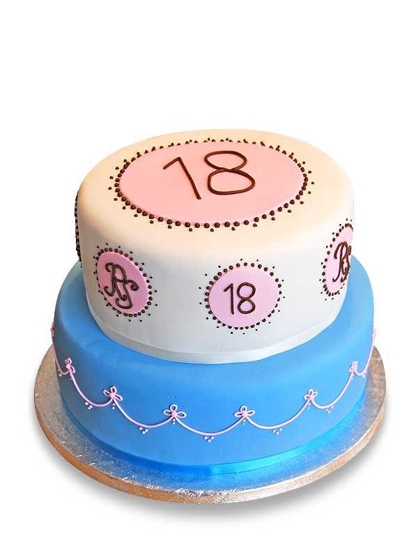 PuurTaart :: Taartengalerij - Verjaardag taart 18 jaar - Birthday cake
