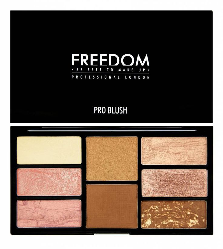 Freedom Makeup Pro Blush Palette - Bronze and Baked