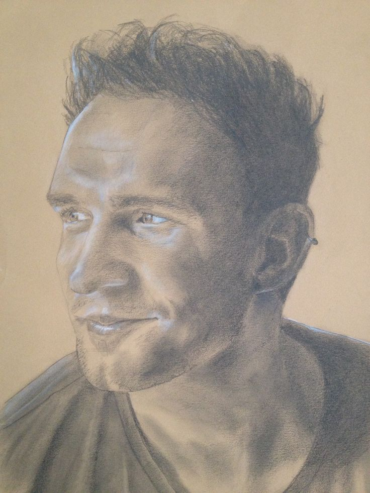 Alastair - Pencil and white pastel - April 2015.