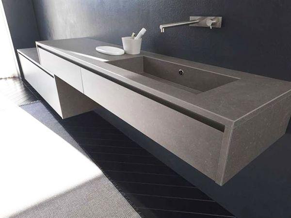 Grès porcellanato per arredo bagno- Mobile rivestito in Kerlite by Modulnova Bagni
