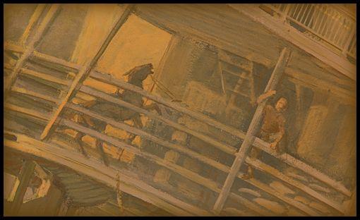 Barco de Vapor Arabia 1856- El fondo del río era suave, y el barco y la carga se hundió rápidamente en el barro y limo. A la mañana siguiente, sólo las chimeneas y la parte superior de la cabina del piloto permaneció visible. Incluso éstos desaparecieron en pocos días, barridos por la tremenda fuerza del río.