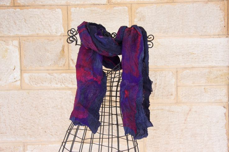 A personal favorite from my Etsy shop https://www.etsy.com/listing/236205658/fine-merino-wool-and-silk-nuno-felted