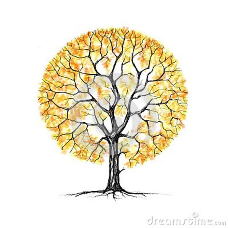 The Tree, Autumn, Drawing Royalty Free Stock Photos ...