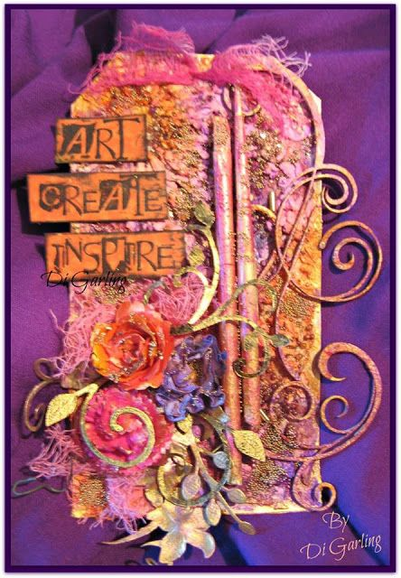 Project created by More Than Words DT member Di Garling for the June Mini Challenge using the word ART. More details at http://morethanwordschallenge.blogspot.ca/2016/06/june-mini-challenge.html #morethanwords #morethanwordschallenges #mtw