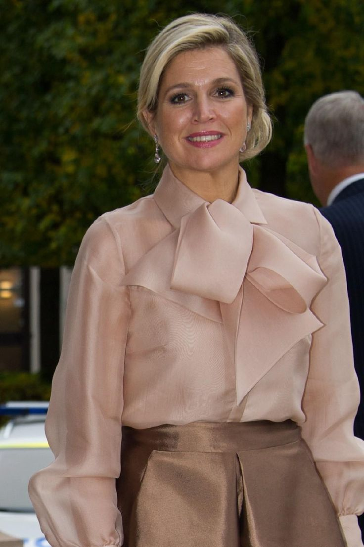 14 oktober 2013. Queen Maxima in Natan visiting Sweden
