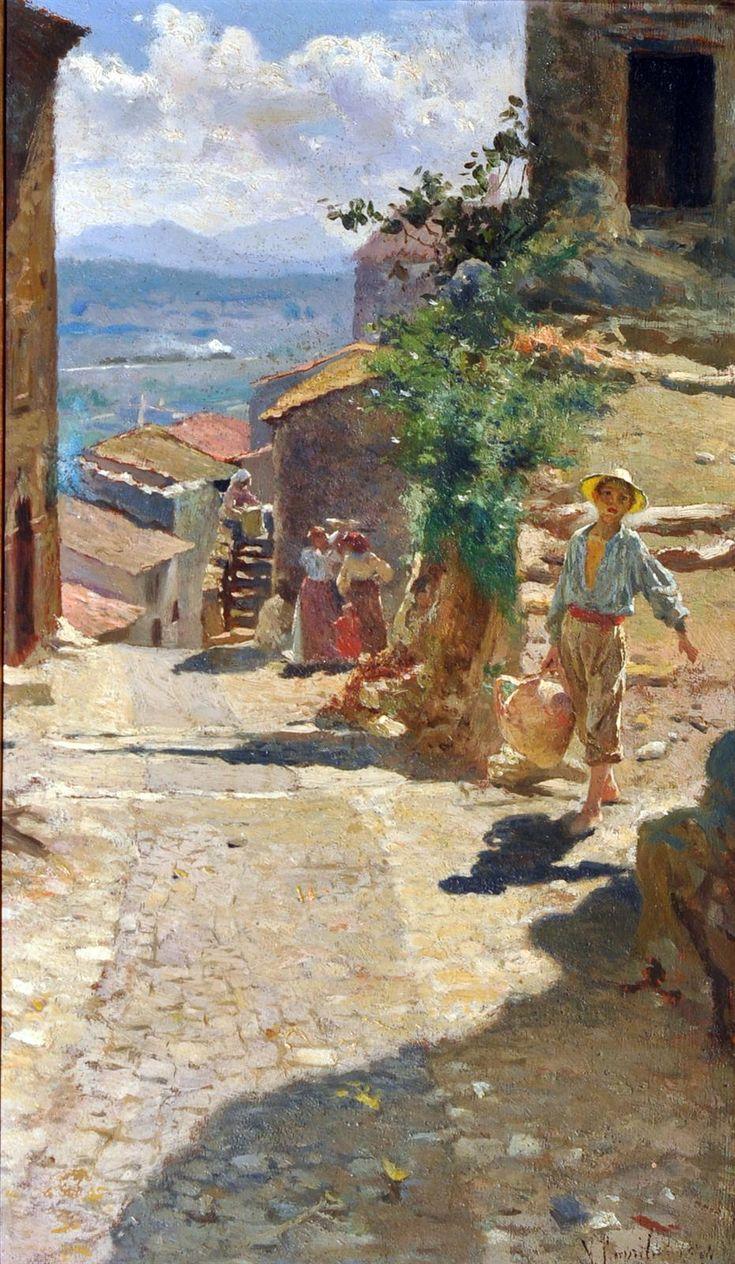 Caprile Vincenzo (Napoli 1856 - 1936) Acquaiolo