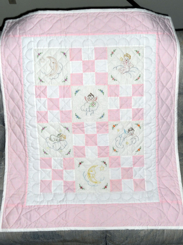 Best images about embroidered baby quilts on pinterest