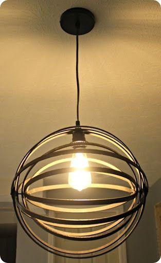thrifty decor chick diy orb light fixture